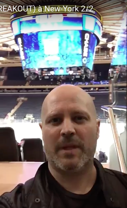 Un petit mot en direct du Madison Square Garden de New-York lors du lancement de BREAKOUT, la version américaine de mon livre.